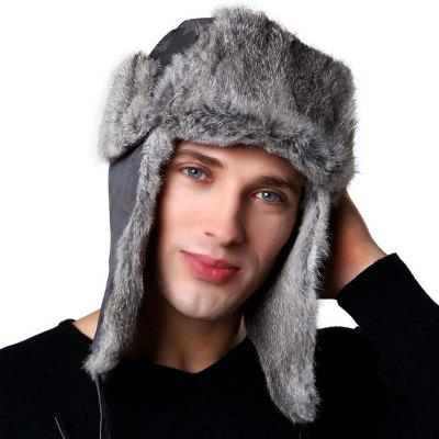 Men's Outdoor Ski Warm Furry Bomber Hat Comfortable Ear Protective Cap Winter Headgear