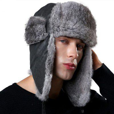 Men's Fashion Warm Bomber Hat Winter Outdoor Earmuff Cap Thick Furry Headgear Comfortable