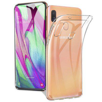 QULLOO TPU Transparant Siliconen Flexibele Crystal Mobile Phone Case voor Samsung Galaxy A40 / A50 / A70 / A80