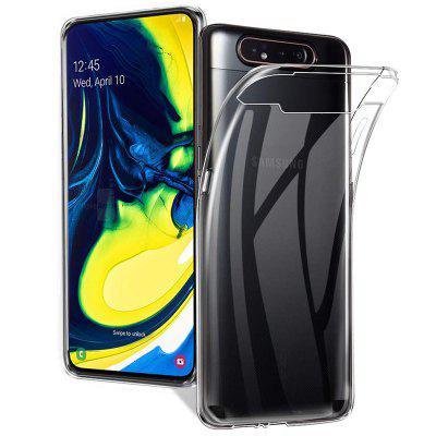 QULLOO TPU Transparent Silicone Flexible Crystal Mobile Phone Case for Samsung Galaxy A40 / A50 / A70 / A80