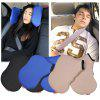 Adjustable Car Seat Headrest Pillow Head Support Resting Nap Sleep Side Cushion - BLUE