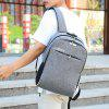 Men Korean Concise Stylish Backpack Large Capacity Multi-functional USB Charging Travel Bag Anti-theft Password Locks - GRAY