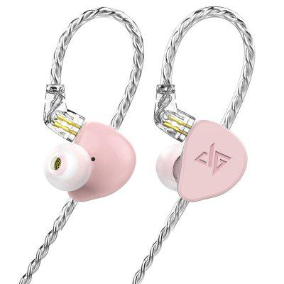 AuGlamour F300 Zinc-magnesium Alloy HiFi In-ear Earphone Dynamic Driver Stereo Sound 0.78mm 2 Pin Detachable Cable Earbuds
