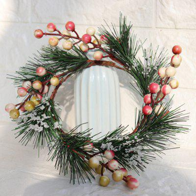 Christmas Decoration Simulation Pine Ring kaarshouder Decorative Ring