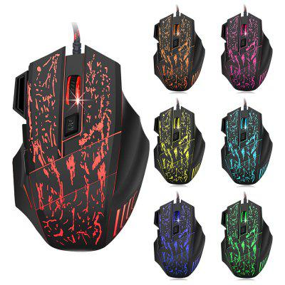 HXSJ A874 5500DPI Wired Colorful LED Gaming Mouse