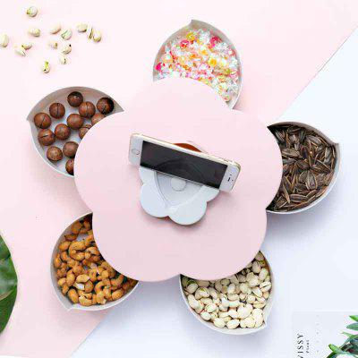 Color Single Layer Candy Box Flower Curve Sweet Style met Phone Bracket
