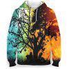 Mannen 3D Abstracte Boom Patroon Hoodie Mode Landschap Trui Printing Trui - MULTI-A