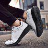 Men's Lightweight Soft MD Outsole Casual Shoes Elderly Artificial Leather Upper Footwear - WHITE