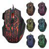 HXSJ A874 5500DPI Wired Colorful LED Gaming Mouse - BLACK