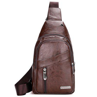 Mannen Wearable Solid Color Mode Crossbody Bag Fashion waterdichte Pack