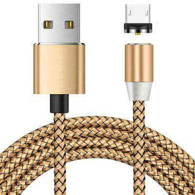 Micro USB Magnetic Metallic Braid Charging Cable 2m