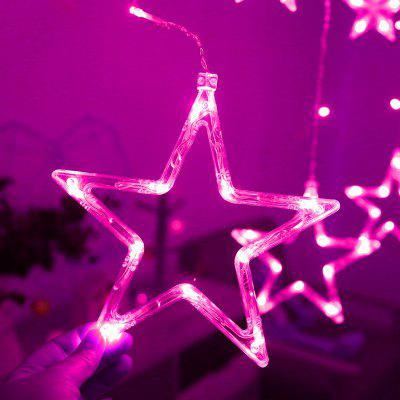 SYJ2019102201 220V 5-Mode Gypsophila 168pcs LED Flashing Lights String Kerstboom Wedding Curtain Small Lights