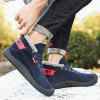 Men's High-top Tooling Outdoor Shoes Durable Lace Up Footwear - DEEP BLUE