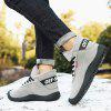 Men's High-top Tooling Outdoor Shoes Durable Lace Up Footwear - GRAY
