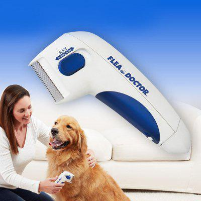 Cat Dog Pet Flea Cleaning Brush Electric Flea Comb Lice Cleaner Tick Remover