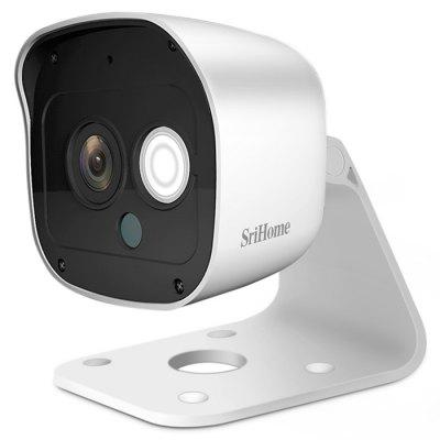 Sistem de securitate SriHome SH029 3MP 1296P HD de rețea în aer liber Camera IP de noapte Vision Two Way Audio Acasă