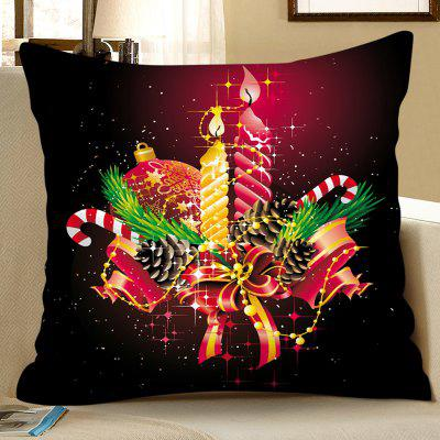 Christmas Candle Parton Digital Printing Square Pillow Case Sofa Cushion Cover