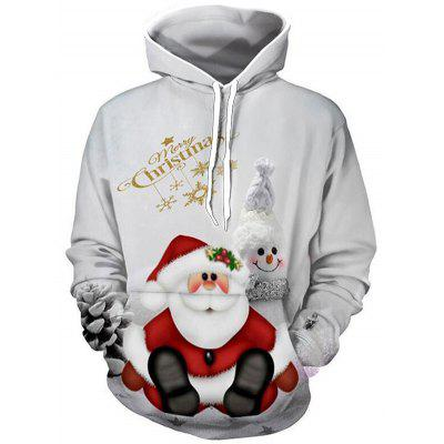 Bărbați Crăciun Cartoon Hoodie Pulover casual imprimare