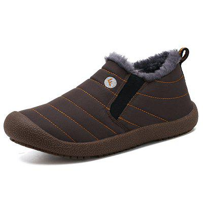 Mannen Warm Waterproof Korte Laarzen Furry winterschoenen Antibotsings Toe