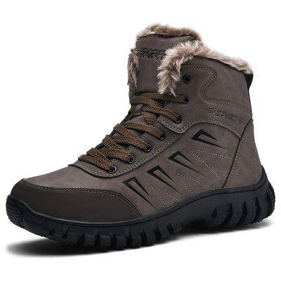 AILADUN Men Patchwork Fashion Snow Boots Warm Thick Outsole Outdoor Sports Shoes