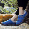 AILADUN Men's Winter Warm Slippers Furry Indoor Casual Shoes Large Size - BLUE