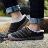 AILADUN Men's Winter Warm Slippers Furry Indoor Casual Shoes Large Size - BLACK