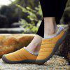 AILADUN Men's Winter Warm Slippers Furry Indoor Casual Shoes Large Size - YELLOW