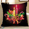 Christmas Candle Parton Digital Printing Square Pillow Case Sofa Cushion Cover - MULTI