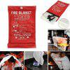 D2019102602 Emergency Survival Heavy-duty Fiberglass Fire Blanket Flame Retardant Protection and Heat Insulation for Grill, Car, Camping - RED