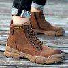 AILADUN Men Tooling Durable Non-slip Boots Outdoor Lace-up Shoes - BROWN