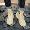 AILADUN Men Patchwork Thick Soles Tooling Boots Durable Outdoor High-top Shoes - TAN