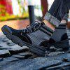 AILADUN Men Patchwork Thick Soles Tooling Boots Durable Outdoor High-top Shoes - BLACK