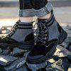 AILADUN Men Patchwork Thick Soles Tooling Boots Durable Outdoor High-top Shoes - NIGHT