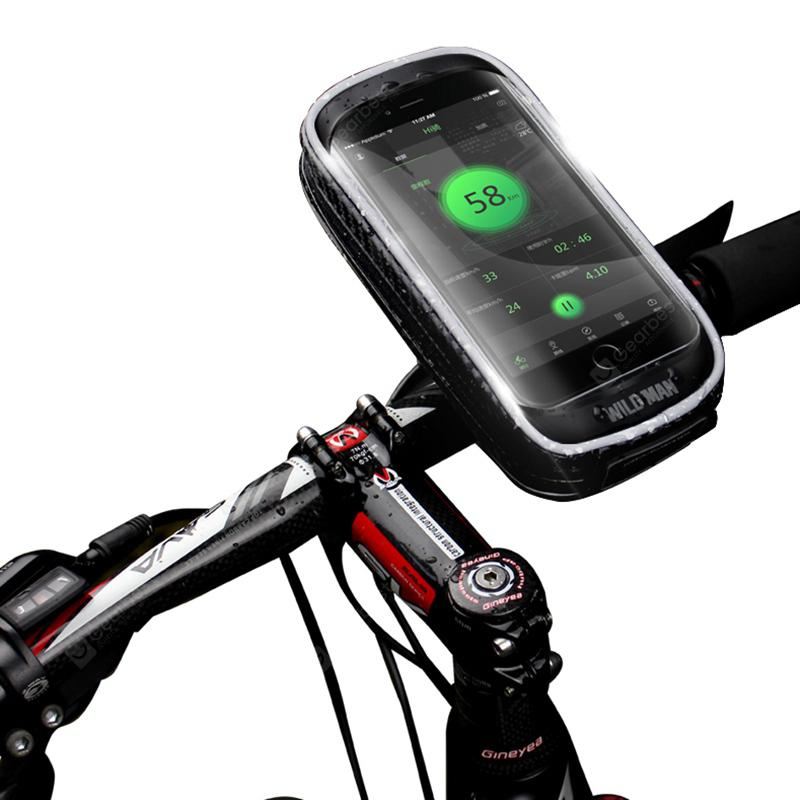 WILD MAN H16 Mountain Bicycle Bag Mobile Holder Touch Screen Large Space Electric Vehicle Navigation Bracket Cycling Equipment