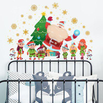 Y1723 Kerstman Snowflake Creative Wall Sticker Kerstboom Window Home Decoration