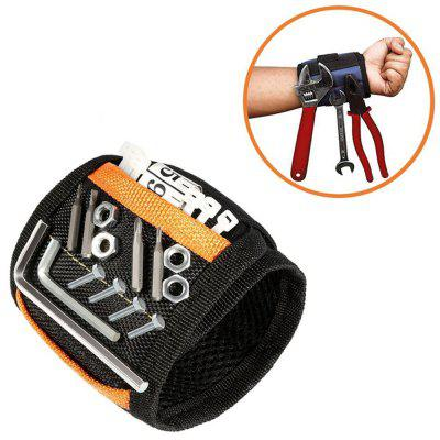 Pocket Magnetic Wrist Strap Nylon Velcro Wristband