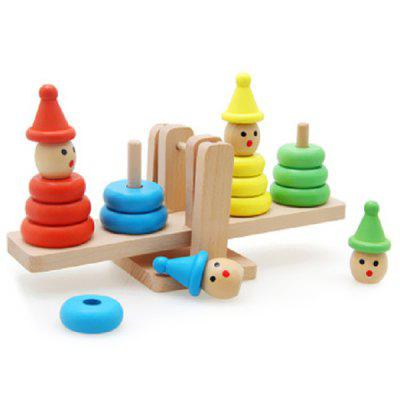 Children's Educational Toys Balance Blocks Jenga Clown Balance Tower