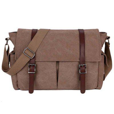 Mannen retro Canvas Crossbody Bag Vrije tijd Reisbureaus Briefcase