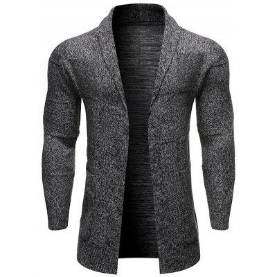 Męska firm Proste Patchwork Sweter Łatwy mecz Solid Color Knit Cardigan
