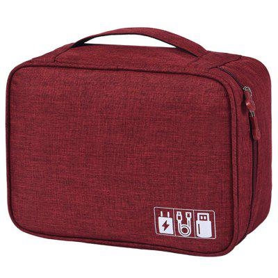 Man Multi-function Digital Electronic Product Data Lines Storage Bag Cation Polyester Fabric