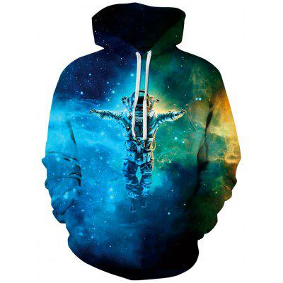 Men Cool Degenerator Printing Hoodie Hooded Pullover with Pockets