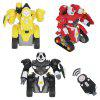 Q033 2.4G Remote Control Assembled Robot Toys 38pcs - RED