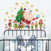 Y1723 Santa Claus Snowflake Creative Wall Sticker Christmas Tree Window Home Decoration - MULTI