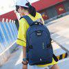 Personalized Office Backpack External USB Charging Port Simple Easy-match Anti-theft Bag - GRAY