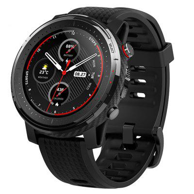 Amazfit Stratos 3 Smart GPS Sports Watch 1.34 inch Screen 5ATM Waterproof Multi-sports Modes BioTracker Heart Rate Monitor MP3 Player Global Version -  Black