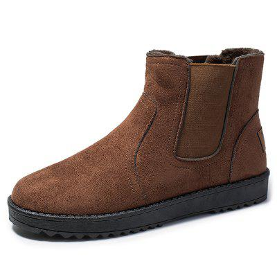 Mannen Winter effen kleur snowboots Simple Warm High-top Shoes