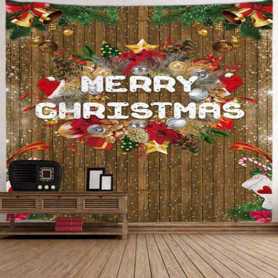 Christmas Digital Printing Tapestry Wooden Board Effect Background Cloth