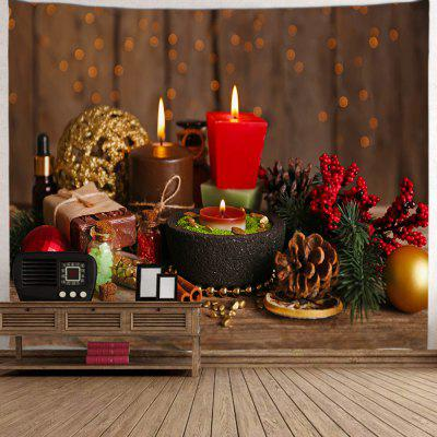 Christmas Candles Background Tapestry Cloth Digital Printing