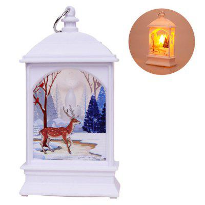Christmas Decoration Flat Wind Light Candlestick Lamp Old Elk Snowman Night Light Ornament
