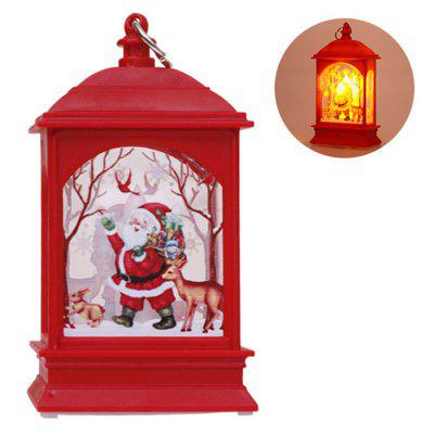 Vánoční dekorace Flat Wind Light Svícen lampa Old Elk Snowman Night Light Ornament